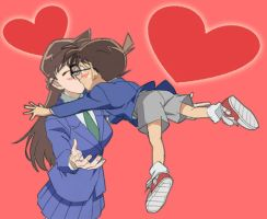 conan and ran kiss jump by black4869