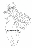 InuYasha (9 outline) by OneColoredLily