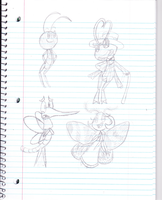 Bugs sketches by Luckynight48
