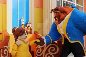 Beauty and The Beast at Downtown Disney Lego Store by DC-Mini