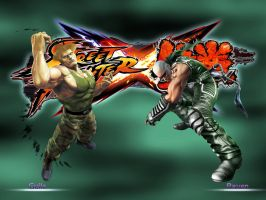 Guile vs Raven - SFxTekken by khotebabu