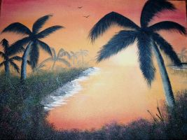 Sunset Beach by W. Redman by wanred