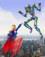 Supergirl vs. Brainiac by VectorAttila