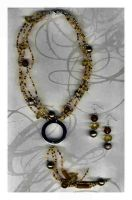 necklace yellow-brown by DesignsGP
