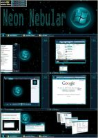 Neon Nebular 32bit Vista Theme by UkIntel