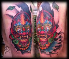 Balinese mask cover-up by WillemXSM