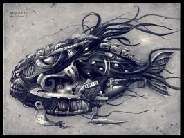 Angry Mechanical Fish 2 by Redjuice