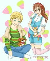 Harvest Moon Siblings by meekgeek