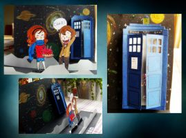 Doctor Who pop-up card by Axeto
