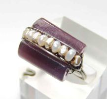 Lepidolite wire ring by CrysallisCreations