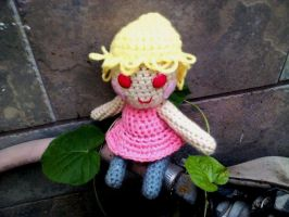 Pink Crocheted Doll by 15cocopuffs