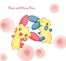 Pokemon: Plusle+Minun by voltali-obscur