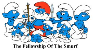 The Fellowship Of The Smurf by uncle-bilbo