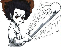 huey freeman, wanna fight by trunks24