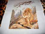 Embroidery - Siberian Tiger by agentsniper