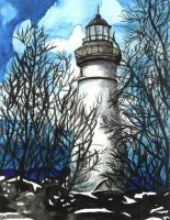 Lighthouse by lavendershards
