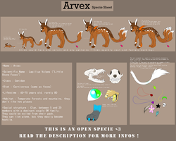 Arvex - Specie Sheet - OPEN SPECIE by LeaTenshi