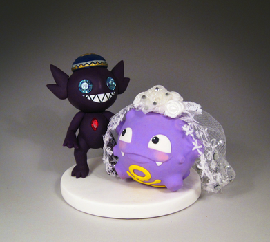 Koffing and Sableye Cake Topper by caffwin