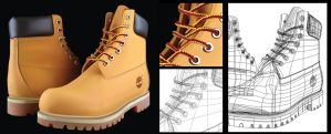 Timberland Vector WIP by LuigiLA