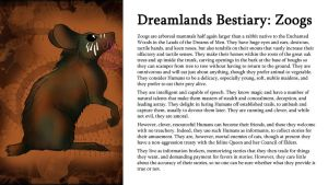 Dreamlands Bestiary: Zoogs by TeamGirl-Differel