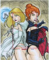 TWO QUEENS sketch card commission by mdavidct