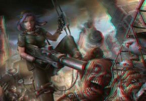 Zombie Busters 3-D conversion by MVRamsey