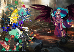 Sonic and co VS Desdemona Everqueen by pokekid333