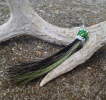Horsehair Tassel Keychain - Mixed by TarpanBeadworks