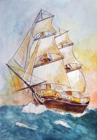 Sailing ship by BettyNobs
