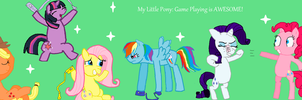 Mlp Cast Playing Wii by thouartfan