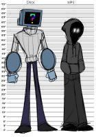 Inanimate Heads: Dex and Way by thepurpah