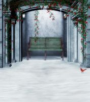 Winter alcove background by indigodeep