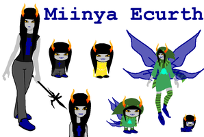 Miinya Ecurth ~ Homestuck OC by BadLuckKat
