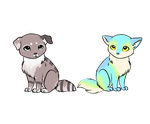 P2U Bases- Little Kitty and Little Puppy! by Xecax