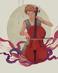 The Cellist by reddii