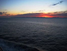 North Pacific Sunset by GabOrcinus