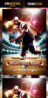 XTRM Basketball Night Flyer Template by odindesign