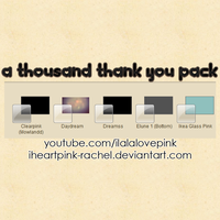 a thousand thank you pack: windows 7 themes by iheartpink-rachel