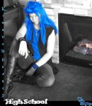 Kingdom Hearts High - Saix - Senior Pictures by Kimeronica