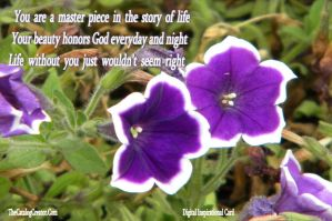 You are a master piece-Digital Inspirational Card by thecatalogcreator
