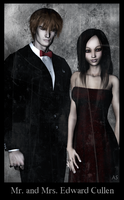 Mr. and Mrs. Cullen by cryptic-sacrifice