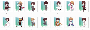 Durarara!! Folder Icons by Ginokami6