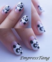 Panda Nails by EmpressTang