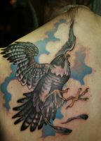 Falcon tattoo by Phedre1985