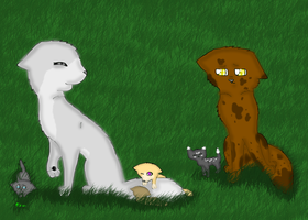 Groundheart and his sister's pups by breebree223