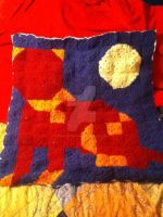 Crochet Cat Pillow Cover by ParallelDeityComic