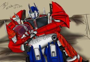 Causeway an Optimus -Expecting by LadyElita-Arts