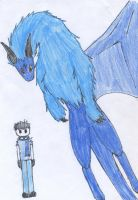 DigimonCursed: Michah and Arcdramon by TheRaven-King
