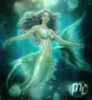 Mermaid PAINTING AND DRAW ANIME by Maryneim