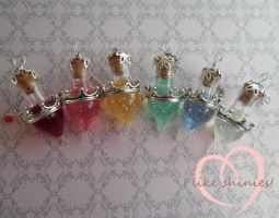 Disney inspired Princess potions by ilikeshiniesfakery